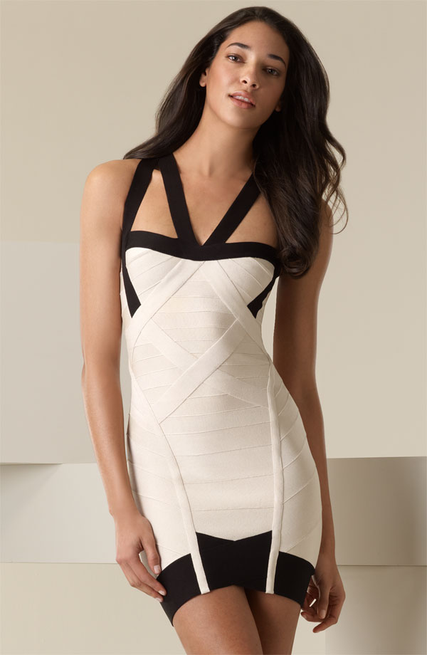 Herve Leger Black And White Dress New
