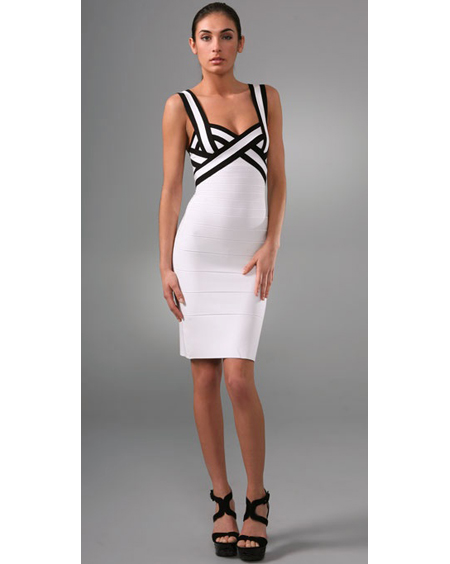 Herve Leger Black And White Dress [Herve Leger Black And White ...