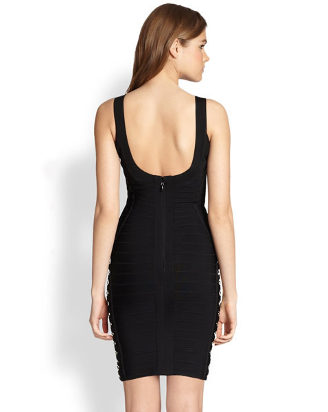 Herve Leger Black Dress Halter
