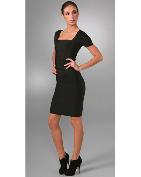 Herve Leger Black Dress New