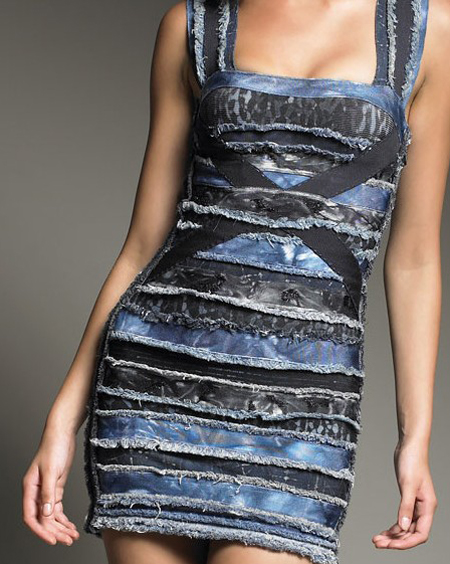 Herve Leger Blue Bandage Dress