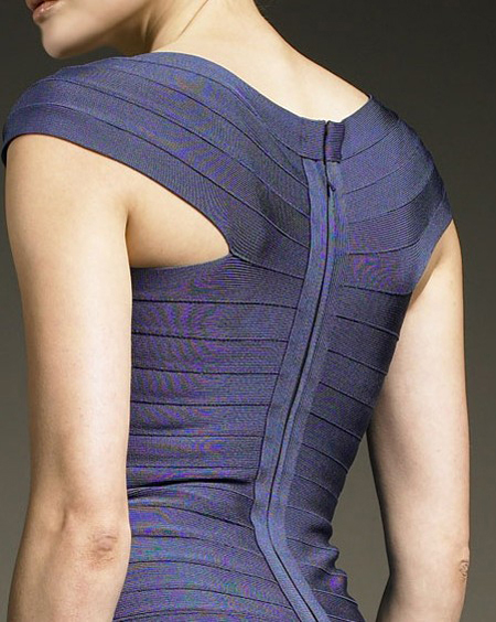 Herve Leger Purple Dress
