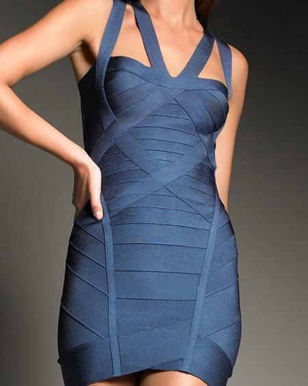 Herve Leger Blue Dress HL502