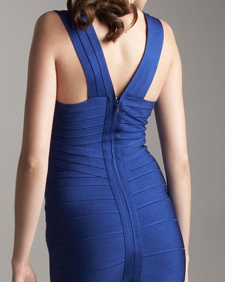 Herve Leger Blue Dress New Style