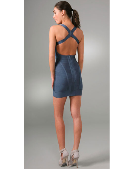 Herve Leger Blue Dress New