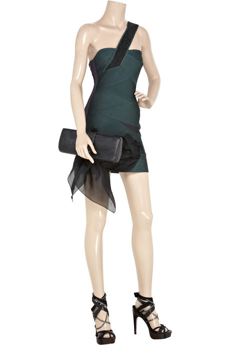 Herve Leger Green Dress