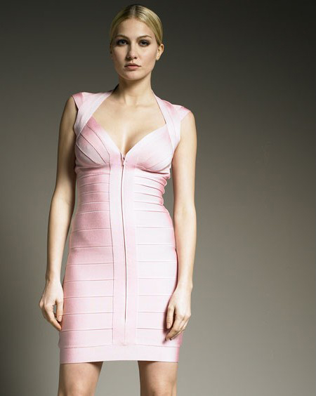 Herve Leger Pink Dress New