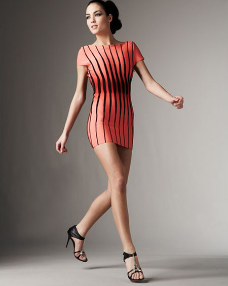 Herve Leger Red And Black Dress Herve Leger Red And Black Dress