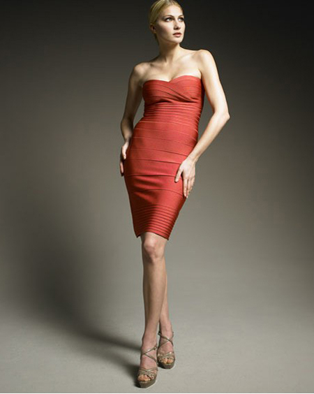 Herve Leger Red Dress HL701