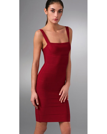 Herve Leger Red Dress Halter