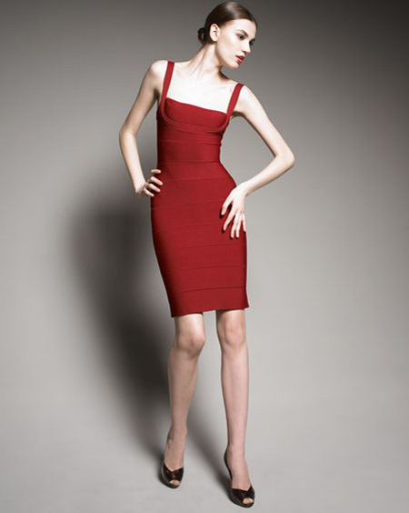 Herve Leger Red Dress New