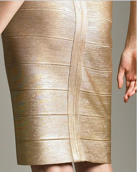 Herve Leger Silver Dress New