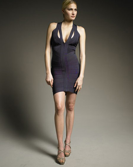 Herve Leger Strapless Dress New