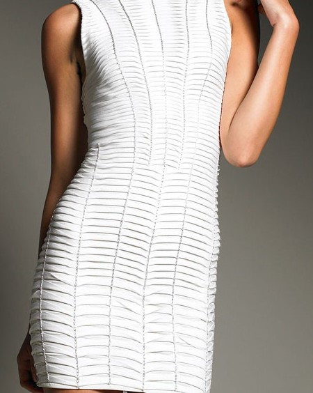 Herve Leger White Dress Discount
