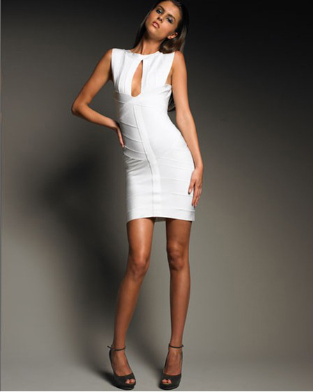 Herve Leger White Dress New
