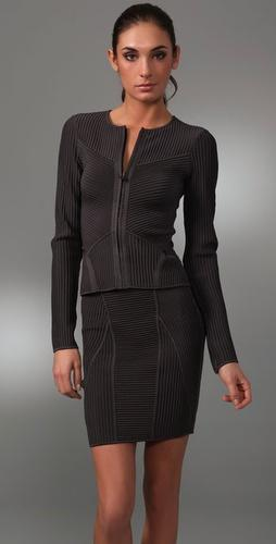Herve Leger Fashion Grey Jacket