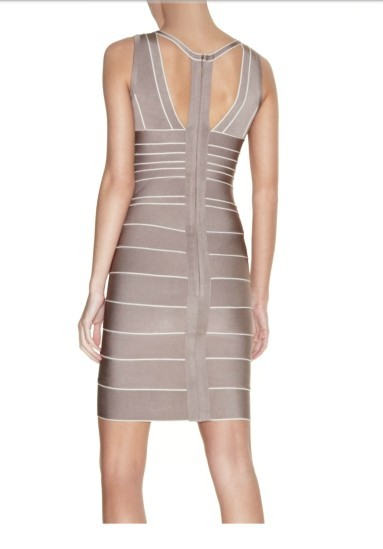 Herve Leger Grey Novelty  Bandage Dress