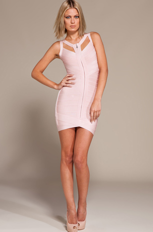 Herve Leger New Style White Dress