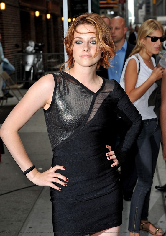 Kristen Stewart Herve Leger V Neck Bandage Dress