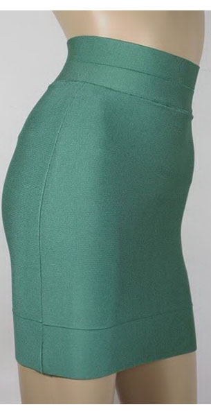 Discount Herve Leger Bandade Pencil Skirts Green