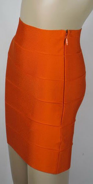 Herve Leger Bandage Skirt Red