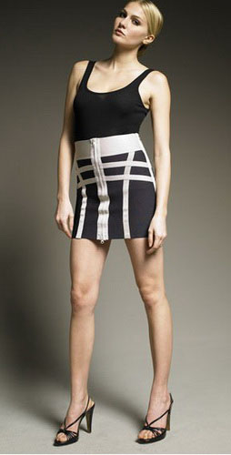 Herve Leger Black And Whit Skirt