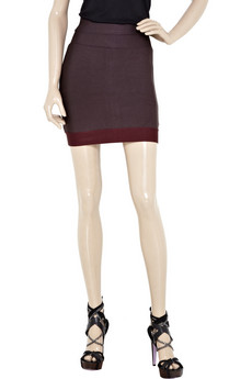 Herve Leger Block-Color Bandage Skirt