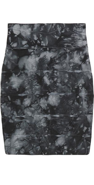 Herve Leger Bqueen Ink-Black Skirt