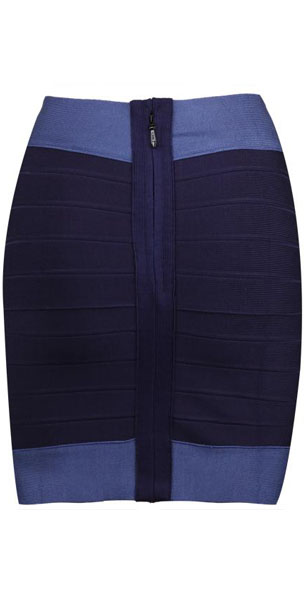 Herve Leger Bqueen Short Skirt Deep Blue
