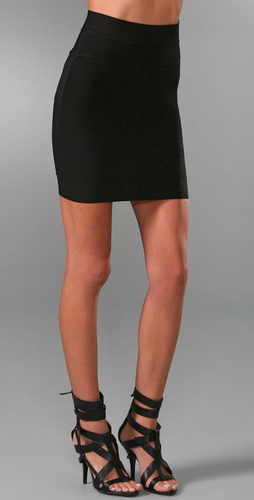 Herve Leger Engineered Tubular Knit Skirts