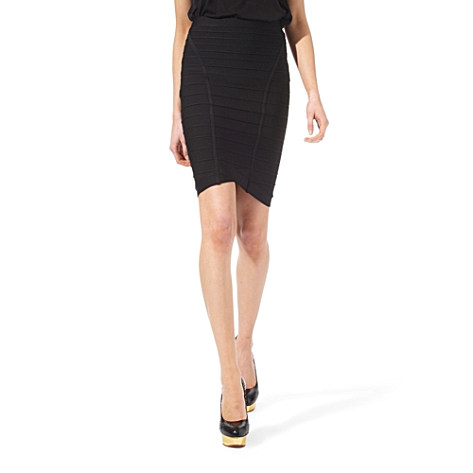 Herve Leger Fishtail Bandage Skirt