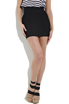 Herve Leger High-Waisted Bandage Mini Skirt Black [Herve Leger ...
