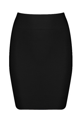 Herve Leger High-Waisted Bandage Mini Skirt Black