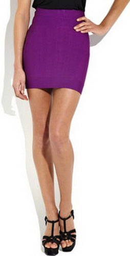 Herve Leger High-Waisted Bandage Mini Skirts