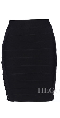 Herve Leger Lacing And Mesh Skirt