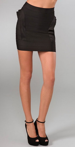 Herve Leger Layered Bandages Skirts Black