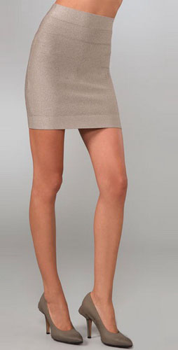 Herve Leger Lurex Essentials Skirt