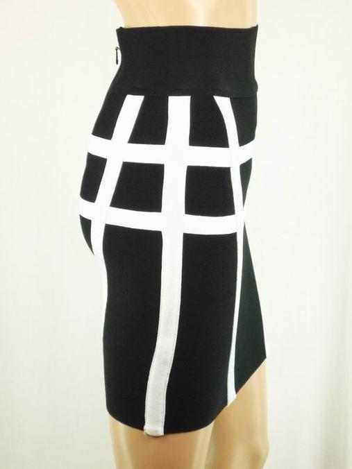 Herve Leger Black And White Mini Skirt