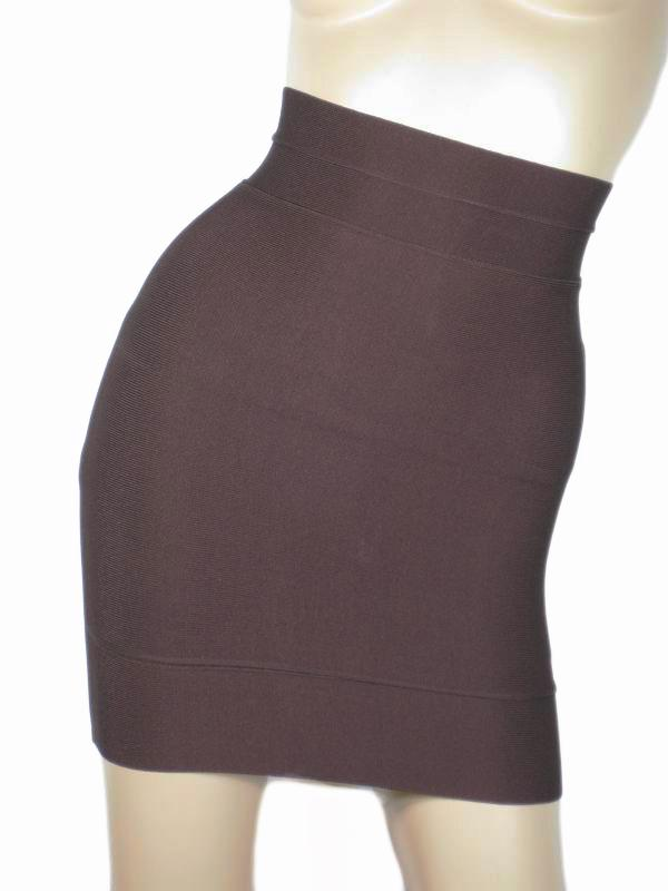 Herve Leger Mini Skirt Chocolate