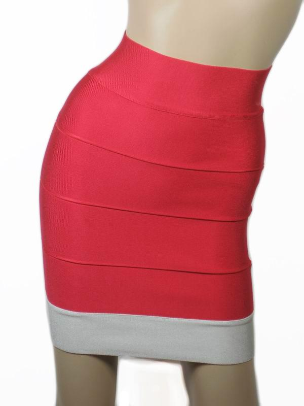 Herve Leger Mini Skirt Red