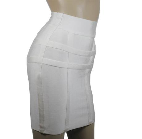 Herve Leger Mini Skirt White