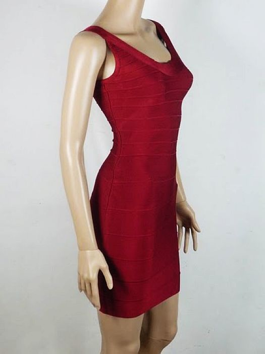 Abbey Clancy Dress Red Herve Leger Bandage Dress