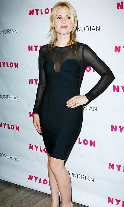 Anna Paquin Dress Herve Leger Black Hot Sexy Dress