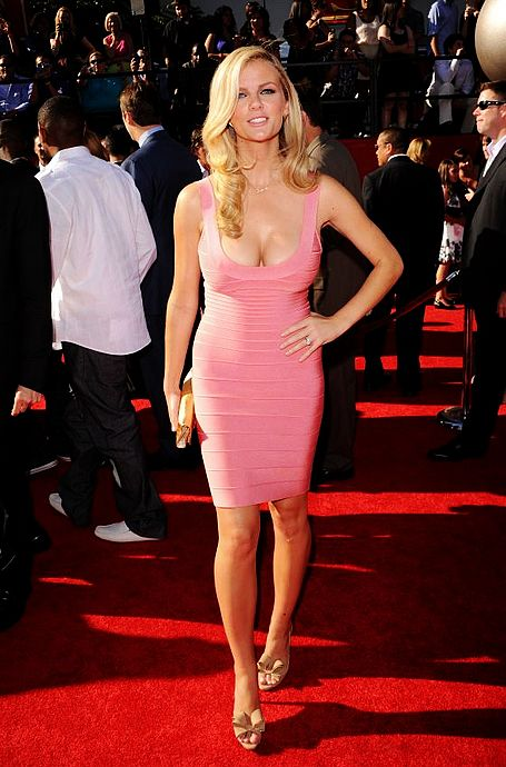 Brooklyn Decker Dress Herve Leger Pink Bandage Dress