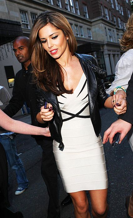 Cheryl Cole Dress Herve Leger Black And White V Neck Bandage Dress