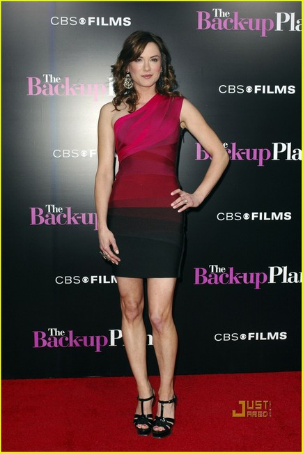 Danneel Harris Dress Herve Leger One Shoulder Colorblock Dress