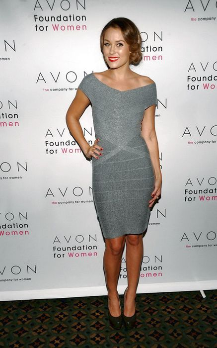 Dress Like Lauren Conrad Herve Leger Lauren Conrad Grey Bandage Dress