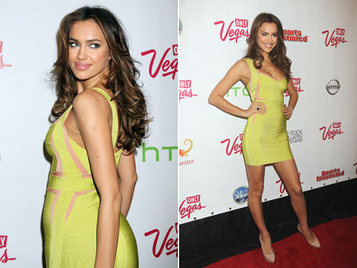 Herve Leger Irina Shayk Dress Herve Leger V Neck Sleeveless Dres