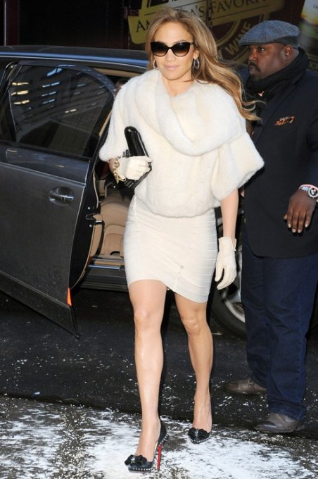 Jennifer Lopez Dress Herve Leger White Sleeveless Bandage Dress