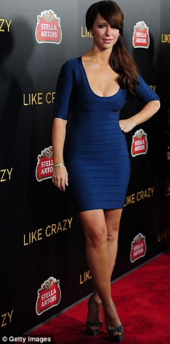Jennifer Love Hewitt Dress Herve Leger Blue Bandage Dress